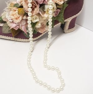Vintage Monet Glass Pearl Bead Necklace
